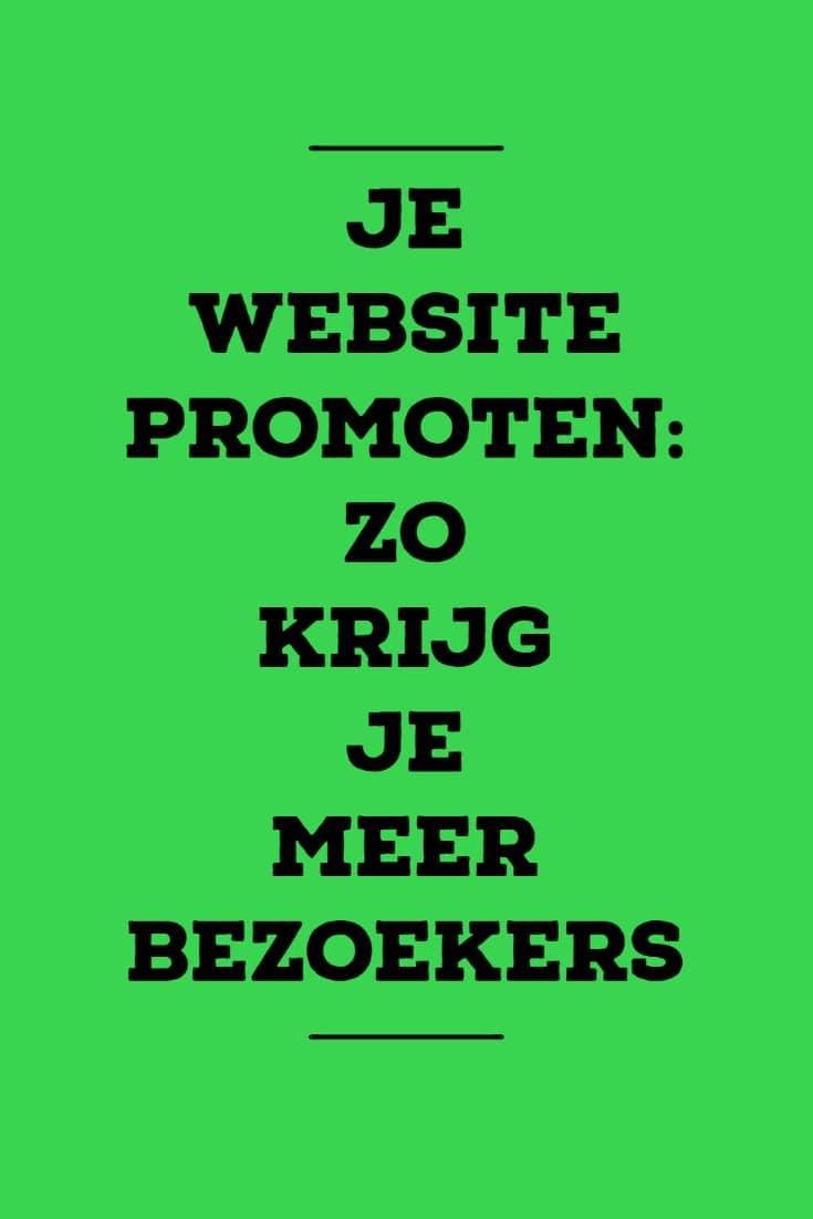 Je website promoten - zo krijg je meer bezoekers