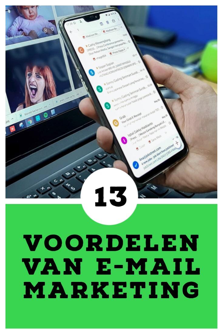 De voordelen van e-mailmarketing