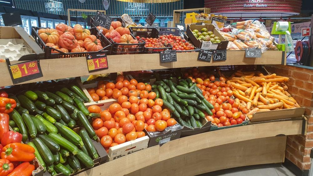 Groente in de supermarkt